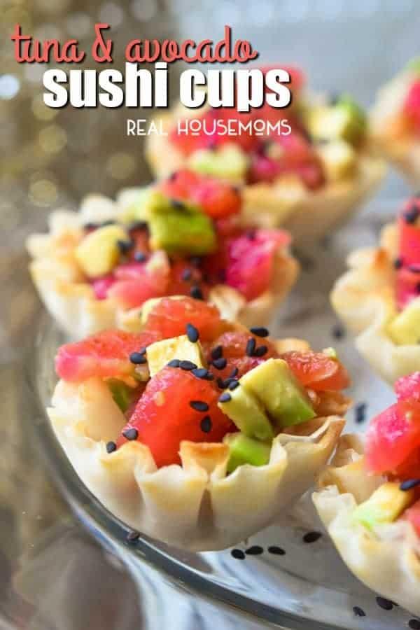 Tuna Avocado Sushi Cups