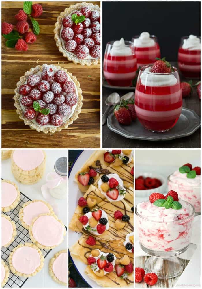 collage of various Valentine's Day Dessert Recipes