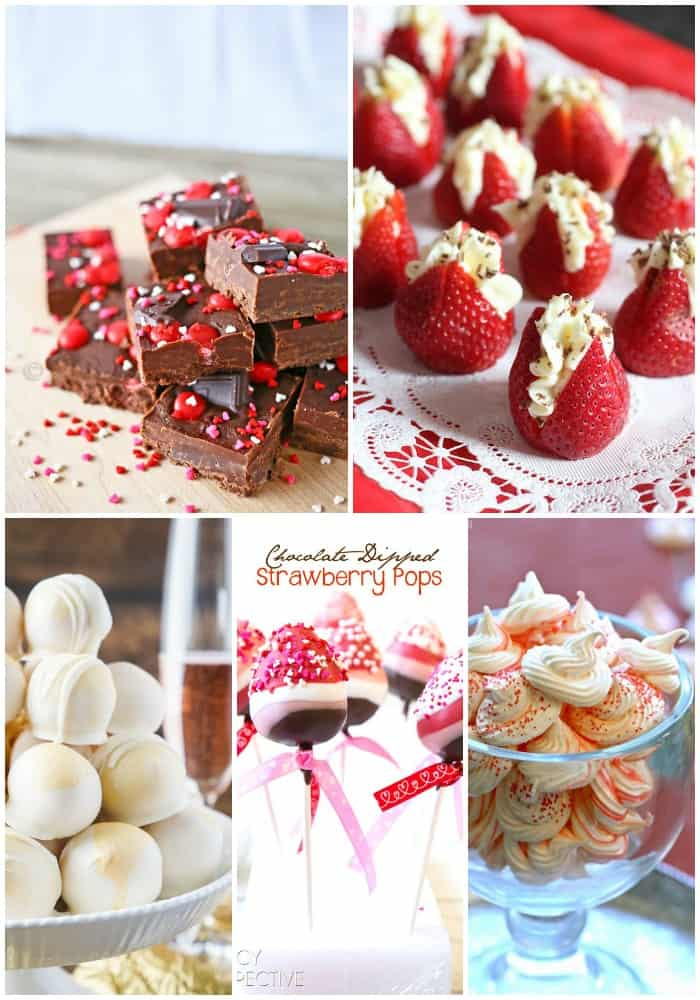 collage of bite-sized Valentine's Day Dessert Recipes