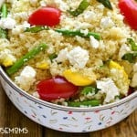 VEGETABLE COUSCOUS SALAD makes a perfect side dish for family gatherings and holidays!
