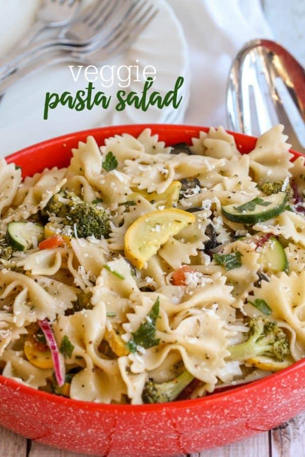 Veggie Pasta Salad - Lil' Luna