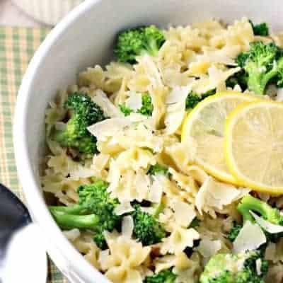 Warm Lemon Broccoli Pasta Salad