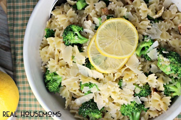 Warm Lemon Broccoli Pasta Salad is a delightfully fresh take on pasta salad that's irresistible!