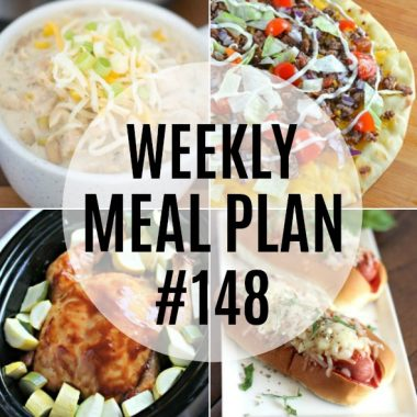 Weekly Meal Plan #148