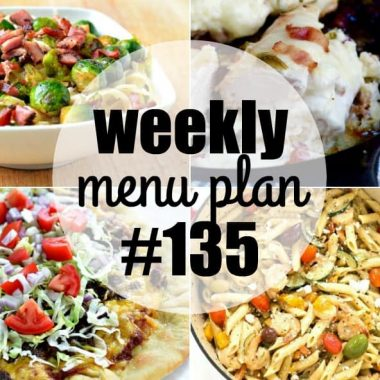 Weekly Menu Plan #135