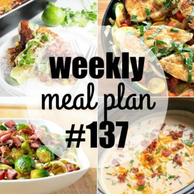 This week's Meal Plan recipes are some of my all-time favorite dinners! Easy to make and crazy good, these meals are guaranteed hits with the whole family!
