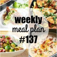 This week's Meal Plan recipes are some of my all-time favoritedinners! Easy to make and crazy good, these meals are guaranteed hits with the whole family!