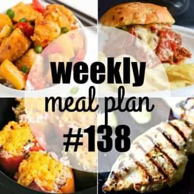 Weekly Meal Plan #138