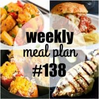 Dinner is about to become SUPER easy! This week's meal plan recipes are a mix of slow cooker favorites and simple dinners to satisfy your family!