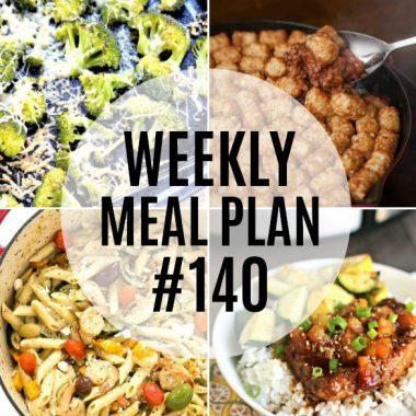 Weekly Meal Plan #140