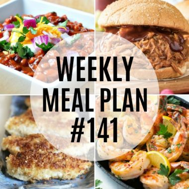 Weekly Meal Plan #141