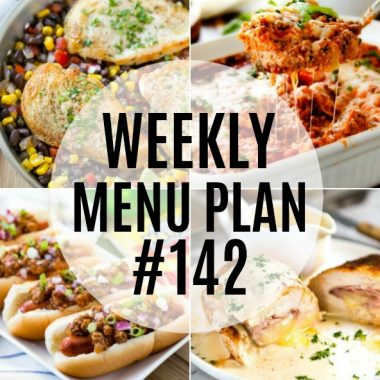 Weekly Meal Plan #142
