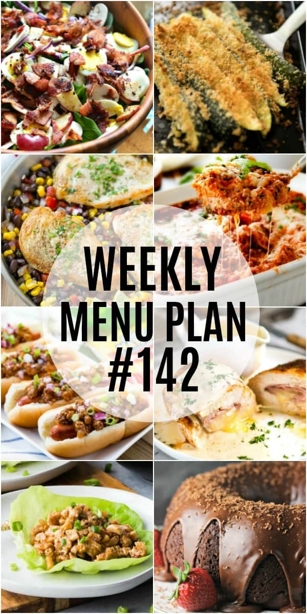 My go-to recipes are the star of this week's meal plan. All family favorites at my house and every recipe is sure to satisfy!