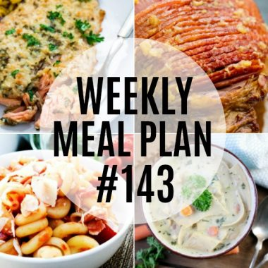 Weekly Meal Plan #143