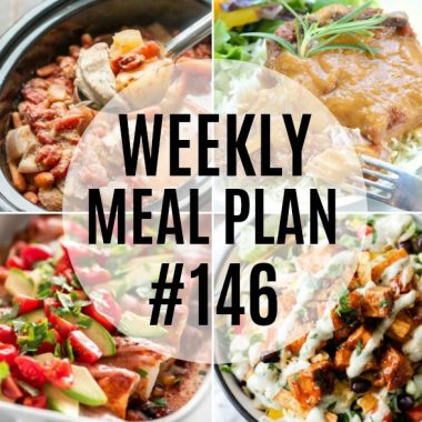Easy to make and big on flavor! This week's meal plan recipes are great for busy weeknights and always a hit with the family!