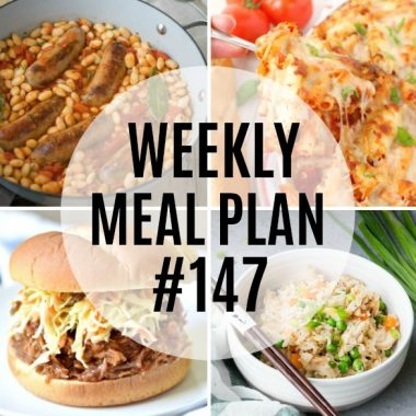 Weekly Meal Plan #147
