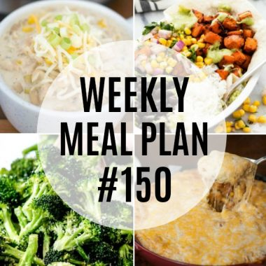 Weekly Meal Plan #150