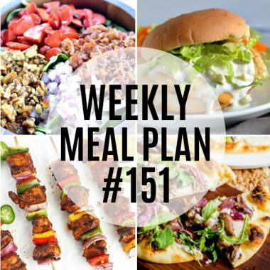 Weekly Meal Plan #151