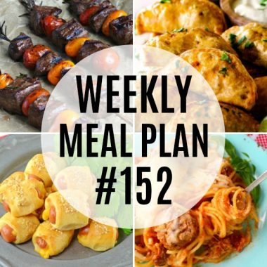 Weekly Meal Plan #152