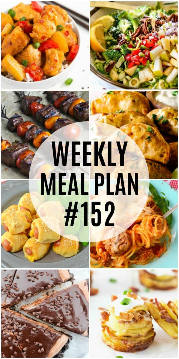 weekly meal plan #152 vertical collage