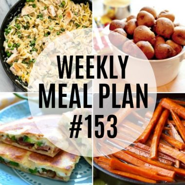 Weekly Meal Plan #153
