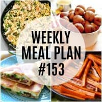weekly meal plan #153 vertical meal collage