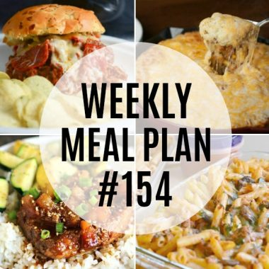 Comforting dinners are the star of this week's meal plan! Familiar flavors come together to leave everyone satisfied!
