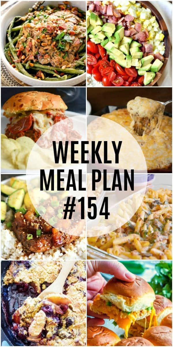 weekly meal plan 154 recipes vertical collage