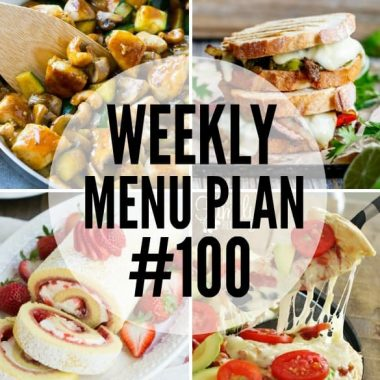 Weekly Menu Plan collage with of tried-and-true family favorite recipes