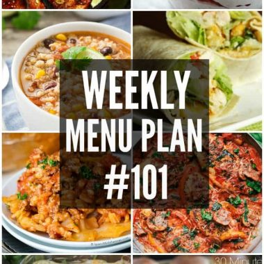 Weekly Menu Plan #101