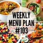 Weekly Menu Plan #103