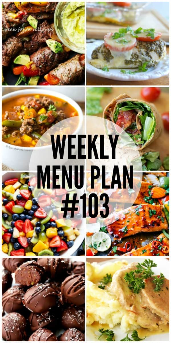 This week's menu plan recipes are all about easy to make dinners with big flavor!