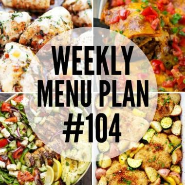 This week's menu plan is for our chicken lovers out there! These recipes show just how versatile your favorite protein can be!
