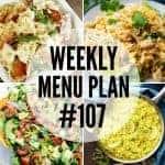 Weekly Menu Plan #107