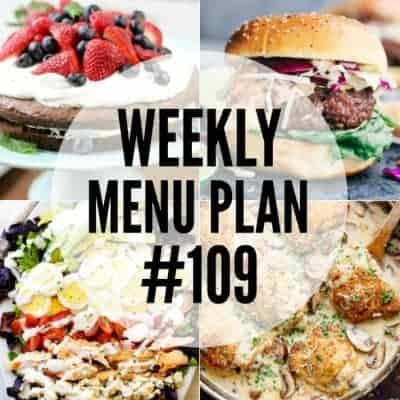 Weekly Menu Plan #109