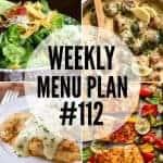 Weekly Menu Plan #112