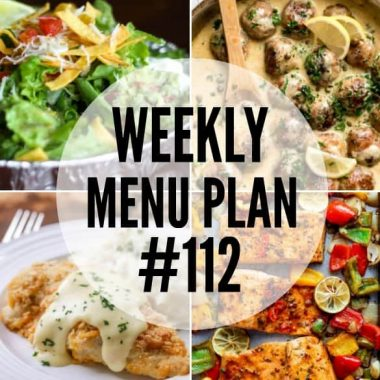 Getting dinner on the table doesn't have to be a chore. This week's menu plan recipes are easy to make and totally delicious!