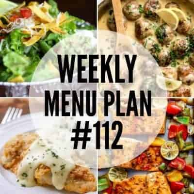 Weekly Menu Plan #112