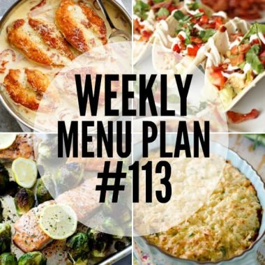 Weekly Menu Plan #113