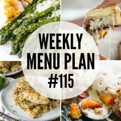 Weekly Menu Plan #115