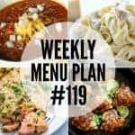 Weekly Menu Plan #119