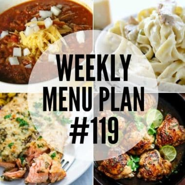 This week's menu plan is all about comforting dinners and sides that'll leave everyone feeling full and happy!