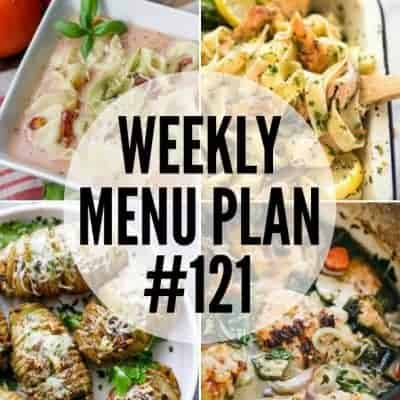 Weekly Menu Plan #121
