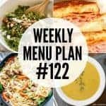 Weekly Menu Plan #122