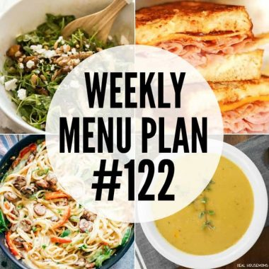 Weekly Menu Plan #122