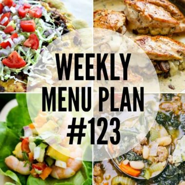 Weekly Menu Plan #123