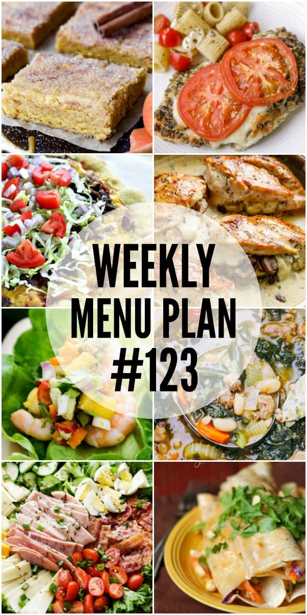 The recipes in this week's menu plan are easy to make and are tried-and-true family favorites!