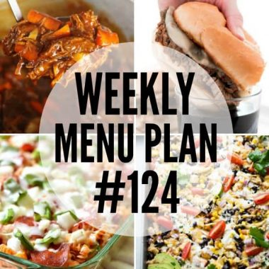 Weekly Menu Plan #124