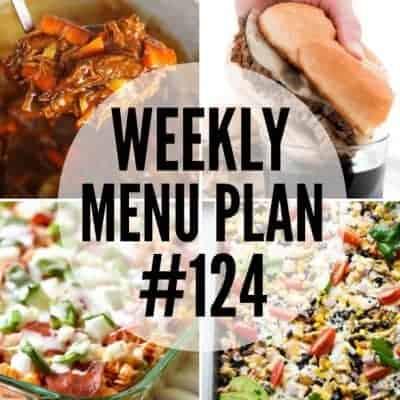Weekly Menu Plan #124