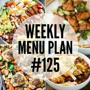 This week's menu plan is full of easy and comforting dinners, sides, and desserts to feed your family!